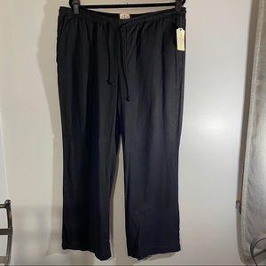 St John's Bay linen and rayon black pants